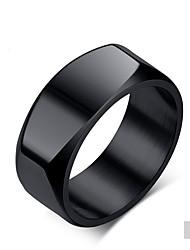 Недорогие -Муж. Кольцо - Классика, Мода 7 / 8 / 9 титан / Матовый черный Назначение Свадьба / Для вечеринок