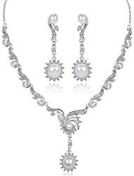 abordables -Mujer Conjunto de joyas - Chapado en Oro Moda Incluir Blanco Para Pedida / Regalo / Pendientes