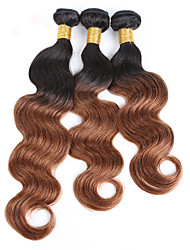 cheap -Brazilian Hair Classic Body Wave Human Hair Weaves 3 Pieces High Quality Natural Color Hair Weaves Daily