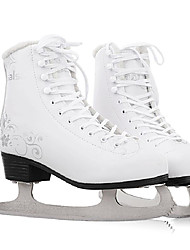 cheap -Kid's Adults' Figure Skates Ice Skates PVC Leather Warm Waterproof Breathable Protective Beginner White Black White/White