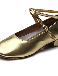 "cheap -Children's Kids' Dance Shoes Patent Leather Heel Training Low Heel Gold 2"" - 2 3/4"" Customizable"