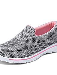 abordables -Mujer Zapatos Licra / Microfibra Primavera / Verano Confort Zapatos de taco bajo y Slip-On Tacón Plano Dedo redondo Poroso Negro / Gris /