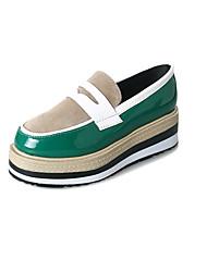 abordables -Femme Chaussures Polyuréthane Printemps Automne Confort Mocassins et Chaussons+D6148 Creepers pour De plein air Noir Marron Vert