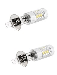 cheap -2pcs Led Fog Light 80W H1/H3/H4/H7 LED Car Auto Driving Fog Tail Headlight Light White 12V