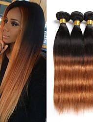 cheap -Brazilian Straight Human Hair Weaves 3pcs 0.3