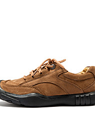 abordables -Chaussures Cuir Printemps Automne Confort Basket pour Décontracté Noir Marron Kaki
