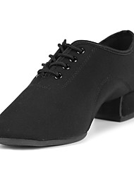 preiswerte -Schuhe für den lateinamerikanischen Tanz Satin Absätze Pailetten Kubanischer Absatz Maßfertigung Tanzschuhe Schwarz