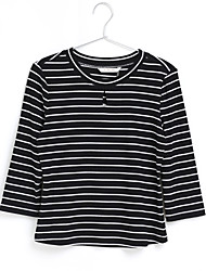 cheap -Women's Going out Cute Street chic Pullover - Striped