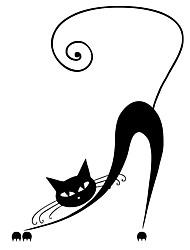 Недорогие -Животные Мода Наклейки Простые наклейки Декоративные наклейки на стены, Винил Украшение дома Наклейка на стену Стена Окно