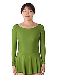 abordables -Robe de Patinage Artistique Femme / Fille Patinage Robes Bleu Ciel / Vert / Rose Spandex Non Elastique Utilisation / Exercice Tenue de