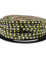 cheap -Not-waterproof 600 LEDs 5M LED Strip Light Warm White Cold White Cuttable Linkable Self-adhesive DC 12 V