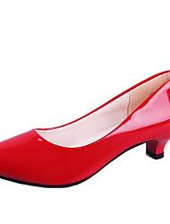 Недорогие -Жен. Обувь Полиуретан Весна Туфли Мери-Джейн Обувь на каблуках Для прогулок Высокий каблук Круглый носок для Повседневные Белый Черный