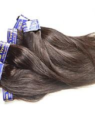 Недорогие -7a перуанские девственные прямые пучки волос 6 штук 300 г много 50 г / шт натуральный черный цвет хорошего качества remy человеческие