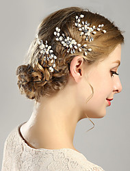 cheap -Metalic Headpiece Hair Stick with Faux Pearl 1pc Wedding Special Occasion Headpiece