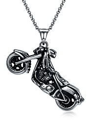 cheap -Men's Pendant Necklace - Stainless Steel Statement, Vintage, Rock Silver Necklace One-piece Suit For Carnival, Street
