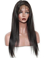 cheap -Remy Human Hair Full Lace Wig Brazilian Hair Natural Wave Layered Haircut / With Bangs / With Baby Hair 130% / 150% / 180% Density Natural Hairline / Middle Part / African American Wig Women's Medium