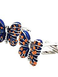 abordables -Forma Geométrica Azul Gemelos Chapado en Oro Animales Elegant Fiesta Regalo Hombre Joyería de disfraz