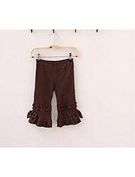 economico -Pantaloni Da ragazza Tinta unita Per tutte le stagioni Marrone Nero Blu marino