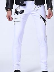 cheap -Men's Simple Skinny Pants - Solid Colored, Rivet