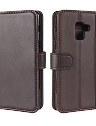 economico -Custodia Per Samsung Galaxy A8 Plus 2018 A8 2018 A portafoglio Porta-carte di credito Con supporto Con chiusura magnetica A calamita
