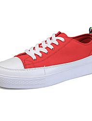 cheap -Men's Canvas Fall / Winter Comfort Sneakers Black / Red / Light Blue