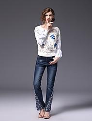 cheap -FRMZ Women's Work Cute Active Blouse Sequins Beaded