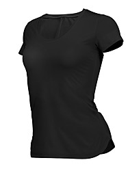 cheap -Women's Running Shirt - Black, Red Sports Tee / T-shirt Yoga, Fitness, Gym Short Sleeve Activewear Quick Dry