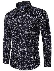 cheap -Men's Street chic Cotton Shirt - Plaid Shirt Collar
