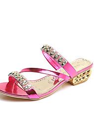 economico -Per donna Scarpe PU (Poliuretano) Primavera Estate Club Shoes Sandali Zeppa Occhio di pernice Con diamantini Perle di imitazione Fibbia