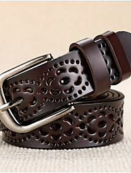 cheap -Women's Leather Alloy Waist Belt Buckle