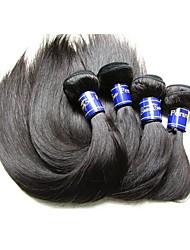 Недорогие -Пряди натуральных волос Реми Высокое качество 1 год 0.4 Повседневные Классика Прямой силуэт