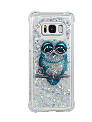 cheap -Case For Samsung Galaxy S8 Plus S8 Flowing Liquid Pattern Back Cover Glitter Shine Owl Soft TPU for S8 Plus S8