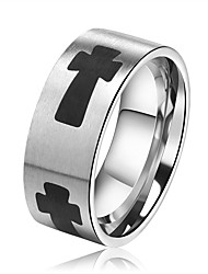 cheap -Men's Women's Band Rings Hip-Hop Fashion Stainless Steel Cross Jewelry Going out Bar