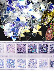 abordables -Nail Glitter Paillettes Accessoires Etincelant Classique Elégant & Luxueux Haute qualité Quotidien Nail Art Design