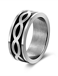 cheap -Men's Women's Band Rings Gift Rock Stainless Steel Waves Jewelry Party Bar