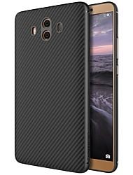 baratos -Capinha Para Huawei Mate 10 Estampada Capa traseira Linhas / Ondas Rígida Fibra de carbono para Mate 10 Huawei
