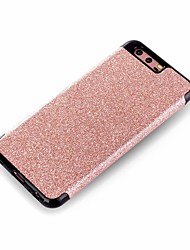 cheap -Case For Huawei P8 Lite (2017) P10 Plus Plating Back Cover Solid Color Glitter Shine Soft PU Leather for P10 Plus P10 P8 Lite (2017) Mate