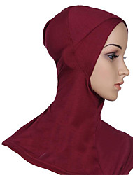 cheap -Egyptian Costume Hijab / Khimar Women's Festival / Holiday Halloween Costumes Cyan Light Purple Brown Red Blue Solid Colored