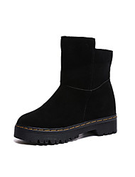 cheap -Women's Shoes Cashmere Winter Fashion Boots Boots Round Toe Knee High Boots for Casual Black Brown
