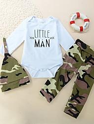 Недорогие -Дети (1-4 лет) Мальчики На каждый день / Активный С принтом Длинный рукав Хлопок Набор одежды