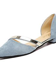 abordables -Femme Chaussures Polyuréthane Printemps / Automne Confort Ballerines Talon Plat Gris / Bleu / Rose