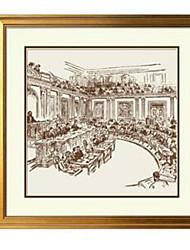 economico -Set con cornice Astratto Illustrazioni Decorazioni da parete, Legno Materiale con cornice Decorazioni per la casa Cornice Al Coperto