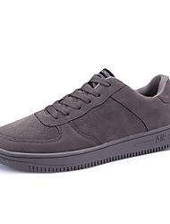 abordables -Homme Chaussures Similicuir Printemps Confort Basket Noir / Gris clair / Rouge Foncé