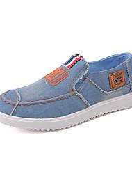 cheap -Unisex Canvas Spring / All Seasons Comfort Sneakers Color Block Dark Blue / Light Blue