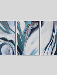 cheap -Oil Painting Hand Painted - Abstract Modern Three Panels