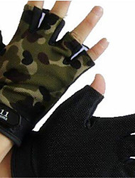 cheap -Sports Gloves Wearable Breathable Skidproof Fingerless Gloves Nylon Road Cycling Outdoor Exercise Multisport All-mountain Mountain