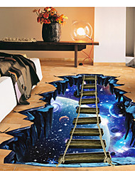 cheap -Abstract 3D Wall Stickers 3D Wall Stickers Decorative Wall Stickers, Paper Home Decoration Wall Decal Floor