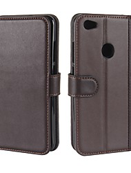 cheap -Case For Xiaomi Redmi Note 5A Card Holder Wallet with Stand Flip Magnetic Full Body Cases Solid Color Hard Genuine Leather for Xiaomi