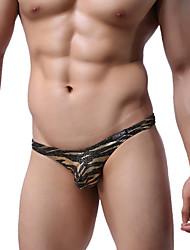 abordables -Homme G-string Sous-vêtements camouflage 1 Pièce Taille basse