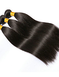 cheap -Brazilian Hair Straight Virgin Human Hair Natural Color Hair Weaves 3 Bundles Human Hair Weaves Natural Black Human Hair Extensions Women's
